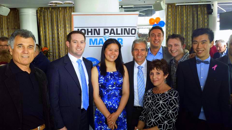 Some of the John Palino – Mayoral team at the Auckland Waterfront